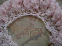 reinforced neck edge on top-down circular shawl