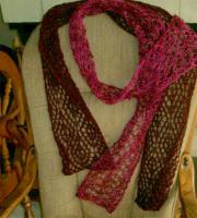 two Thanksgiving day scarves