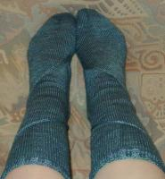 Chris's socks from Cat Bordhi's new book