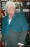 Diana in the smaller-pattern Julia shawl