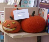 Nathania\'s felted pumpkins